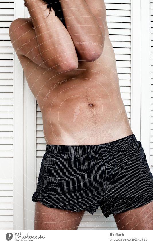 bad brain Körper Mensch maskulin Junger Mann Jugendliche Erwachsene Bauch 1 18-30 Jahre 30-45 Jahre stehen Konflikt & Streit Traurigkeit authentisch nah nackt