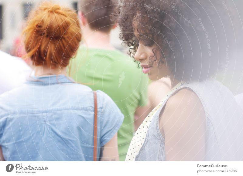 Rot-und Braunschopf. Mensch Frau Jugendliche schön Sommer Erwachsene feminin Freiheit Haare & Frisuren Junge Frau Stil 18-30 Jahre elegant Lifestyle einzigartig