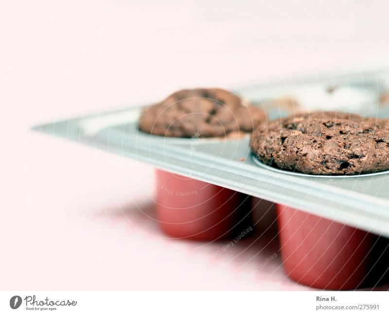 In der Backstube Teigwaren Backwaren Kuchen Muffin lecker süß Backform Schokolade Farbfoto Menschenleer Schwache Tiefenschärfe