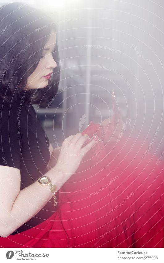 LoLiTa. Mensch Frau Jugendliche schön rot Erwachsene feminin Junge Frau Stil Mode Feste & Feiern 18-30 Jahre elegant ästhetisch Suche einzigartig