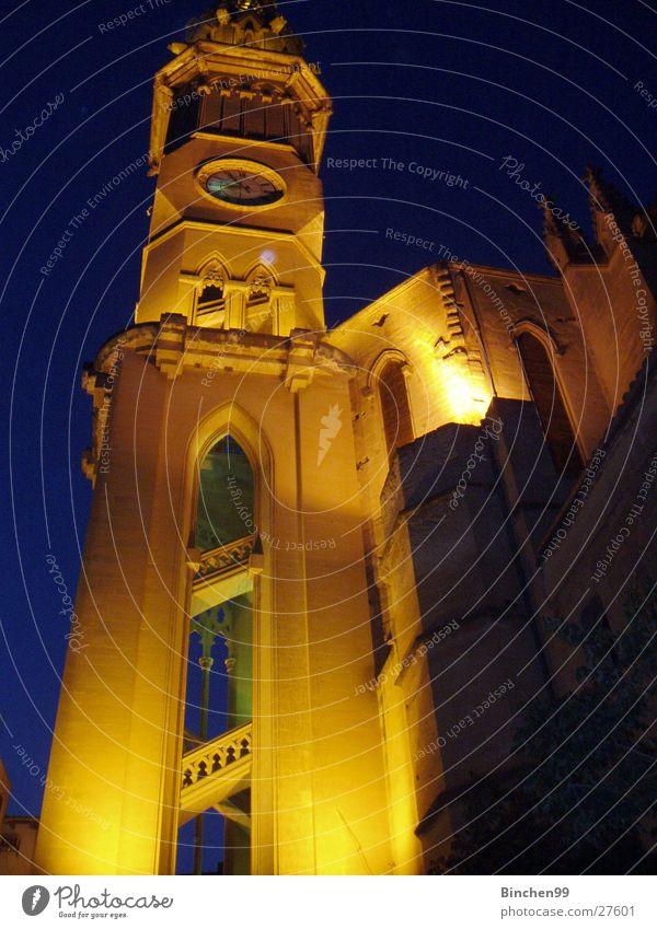 Kirche Nacht historisch Religion & Glaube Belichtung Gebäude Gotteshäuser Architektur