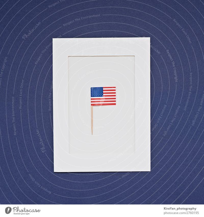 Grußkarte zur Feier des President's Day in Amerika Glück Geld Freiheit Feste & Feiern Geburtstag Denkmal Streifen Fahne blau Ehre Politik & Staat