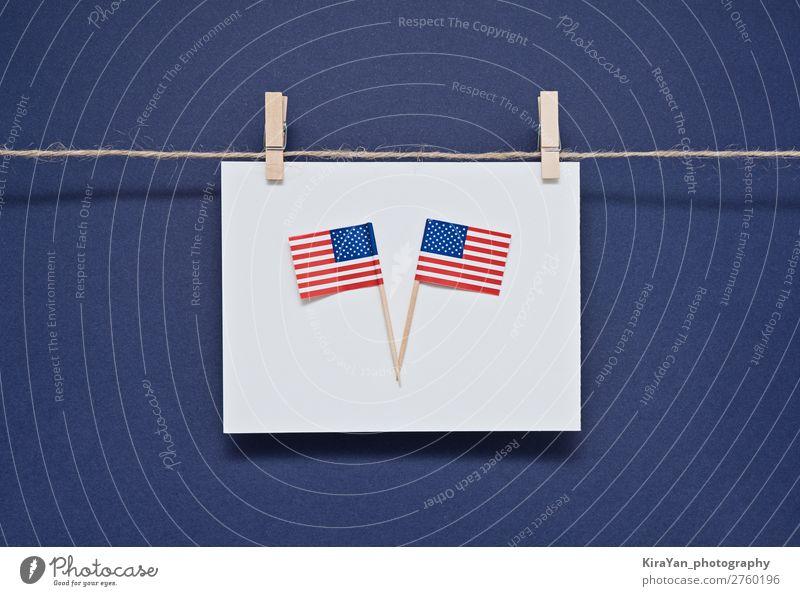 Grußkarte zur Feier des President's Day in Amerika Glück Geld Freiheit Feste & Feiern Geburtstag Denkmal Streifen Fahne hängen blau Ehre Politik & Staat