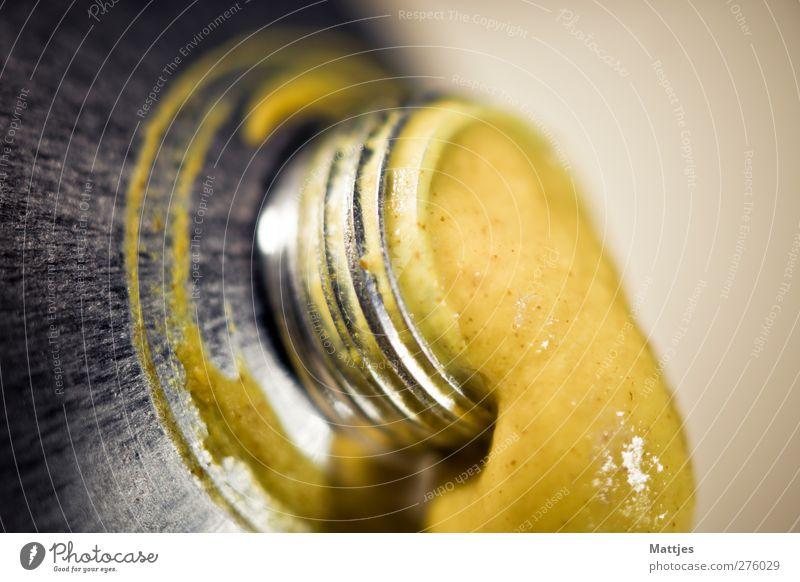 Senf gelb braun Fisch Küche Scharfer Geschmack Kräuter & Gewürze Appetit & Hunger Duft Fressen Fleisch Wurstwaren Tube Saucen gebrauchen verschwenden Hemmungslosigkeit