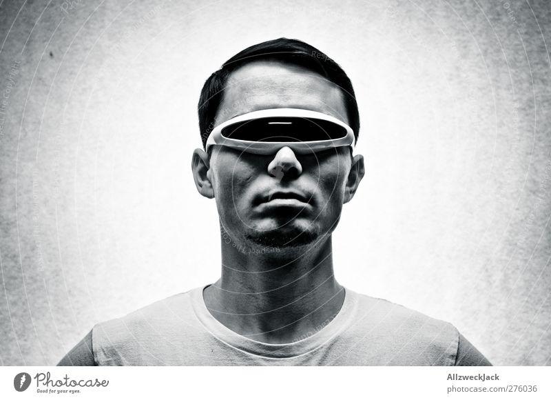 Jack to the Future Mensch Mann Jugendliche Erwachsene dunkel Stil Junger Mann außergewöhnlich 18-30 Jahre maskulin Design modern verrückt Zukunft ästhetisch Coolness