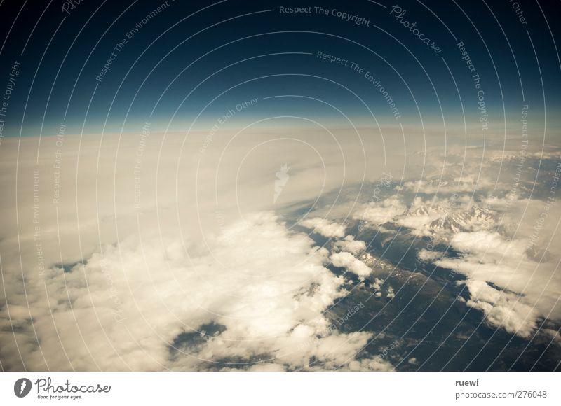 Das letzte Bild des Urlaubs Ferien & Urlaub & Reisen Tourismus Ferne Freiheit Luftverkehr Umwelt Natur Erde Himmel Wolken Horizont Sommer Wetter fliegen blau