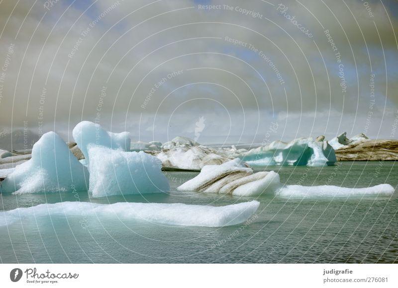 Island Umwelt Natur Landschaft Himmel Wolken Klima Klimawandel Eis Frost See Jökulsárlón Gletschersee Gletscherschmelze außergewöhnlich fantastisch kalt