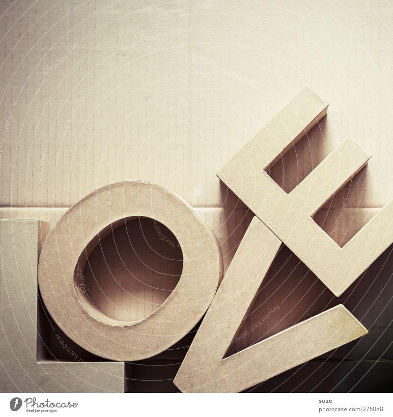 Liebes Bild Stil Freizeit & Hobby Design Schriftzeichen Dekoration & Verzierung Lifestyle Papier Buchstaben einfach Kreativität Idee Zeichen Typographie Karton