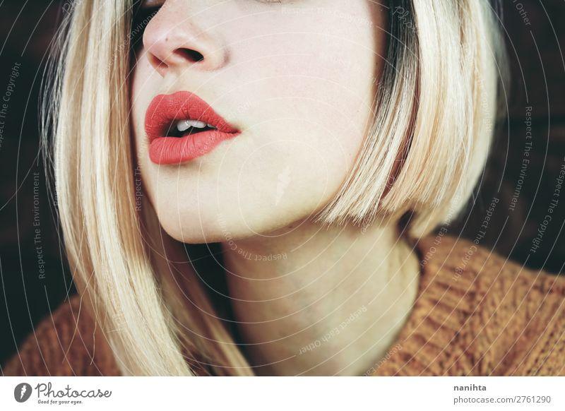 Frau Mensch Jugendliche Junge Frau schön Erotik 18-30 Jahre Gesicht Erwachsene Liebe feminin Stil Haare & Frisuren Stimmung frisch modern