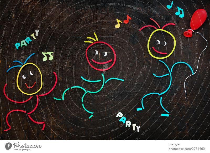 Gummiwürmer: let`s have a party! 3 Männchen feiern eine Party mit Singen und Luftballon Freizeit & Hobby Nachtleben ausgehen Feste & Feiern Flirten Tanzen