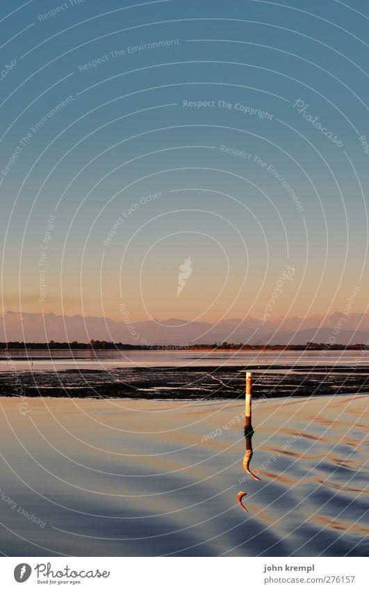 Panta rhei Himmel Natur Ferien & Urlaub & Reisen Stadt blau Landschaft Einsamkeit Strand Umwelt Küste Schwimmen & Baden Stimmung rosa orange Wellen