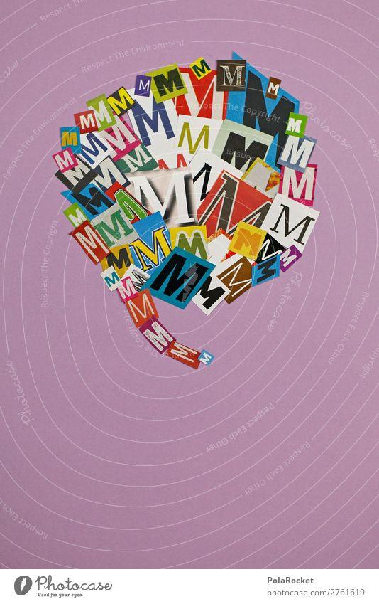 #AJ# M wie Martha Kunst Kunstwerk ästhetisch Sprechblase Buchstaben Buchstabensuppe Buchstabennudeln Schriftzeichen Typographie Kreativität Idee Wort