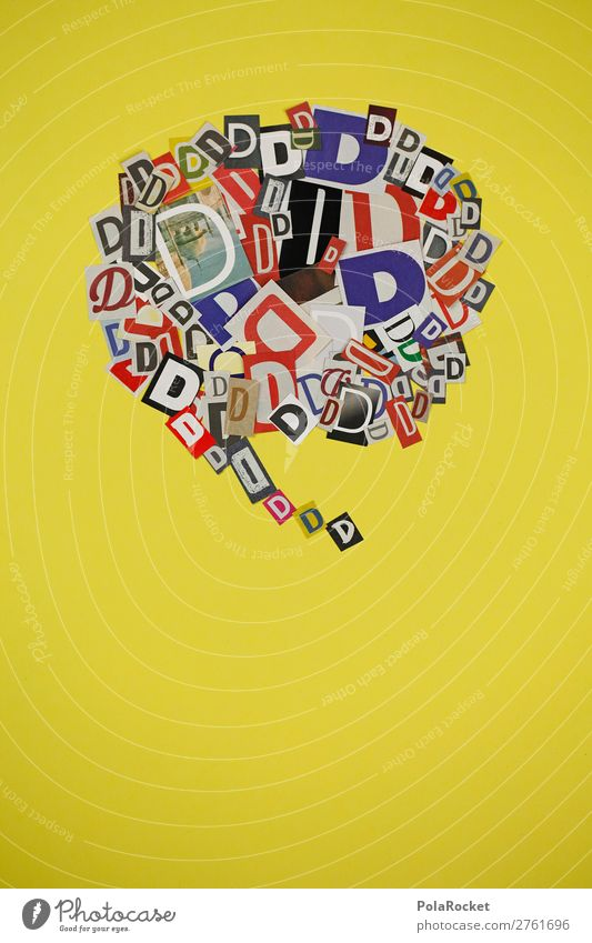 #AJ# D wie Dora Kunst ästhetisch d Buchstaben Sprache Fremdsprache Typographie viele kommunikativ Design Kreativität Designwerkstatt Sprechblase sprechen
