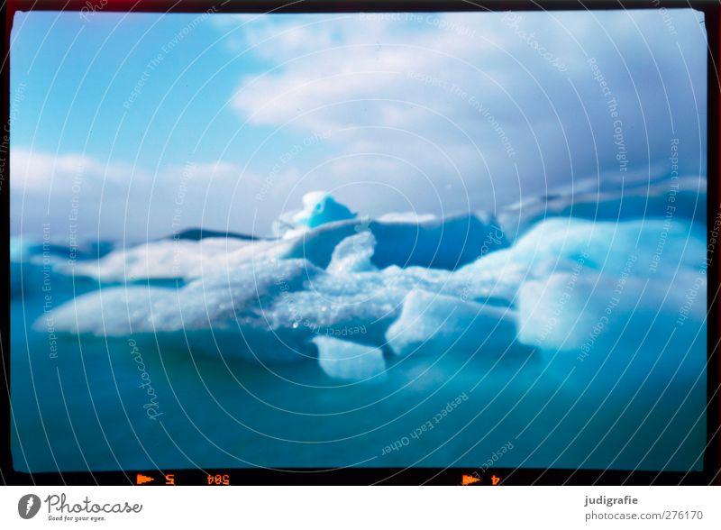 Island Natur blau Wasser Wolken Landschaft Umwelt kalt See Eis Klima natürlich Frost Vergänglichkeit analog Klimawandel