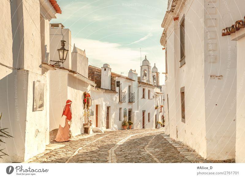 Mittelalterliches Dorf Monsaraz in Alentejo Portugal Ferien & Urlaub & Reisen Winter Architektur Schönes Wetter Europa Kleinstadt Menschenleer Haus Fassade