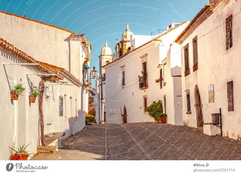 Mittelalterliches Dorf Monsaraz im Alentejo Portugal Ferien & Urlaub & Reisen Europa Kleinstadt Altstadt Haus Architektur Sehenswürdigkeit Straße authentisch
