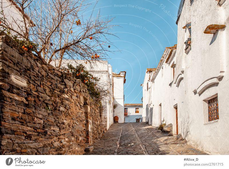 Mittelalterliches Dorf Monsaraz im Alentejo Portugal Ferien & Urlaub & Reisen Europa Kleinstadt Altstadt Haus Architektur Fassade Sehenswürdigkeit Straße