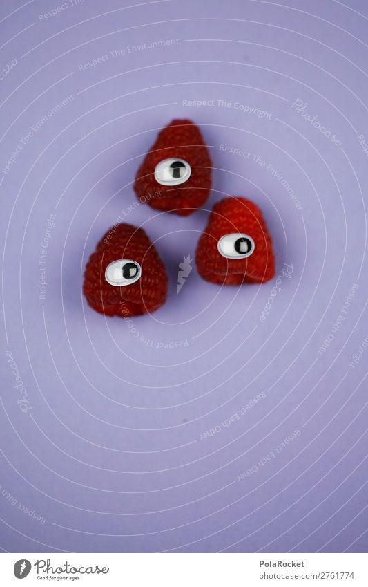 #A# VitaminBuddies Kunst Kunstwerk ästhetisch Himbeeren Himbeereis Himbeerblätter rot Frucht vitaminreich Vitamin C schön niedlich Spielen kindisch Auge