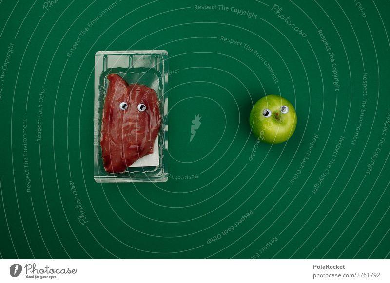 #AJ# Eine Frage der Zukunft Lebensmittel Kunst Ernährung ästhetisch Apfel Vegetarische Ernährung Fleisch Kunstwerk Entscheidung Steak Philosophie Fleischfresser