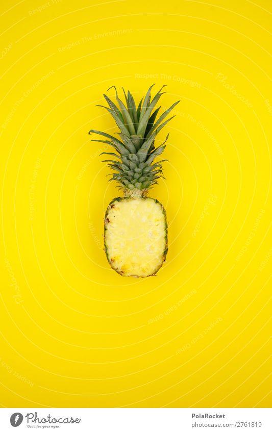 #A# AnanasGelb Lebensmittel Frucht Dessert Ernährung ästhetisch Ananasblätter Ananasplantage gelb Südfrüchte exotisch Vitamin vitaminreich Saft saftig Farbfoto