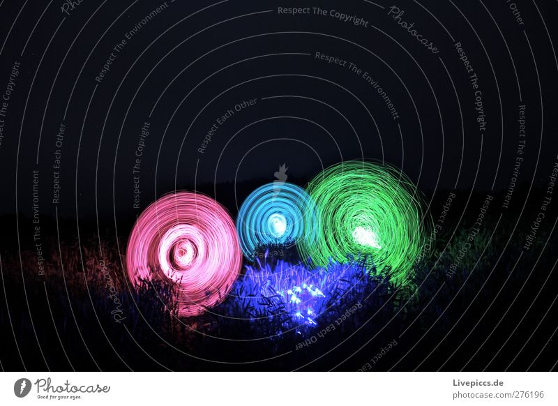 buntes Kornfeld Spielen Mensch maskulin 3 18-30 Jahre Jugendliche Erwachsene Kunst Künstler Maler Natur Landschaft Pflanze Feld Zeichen drehen leuchten blau
