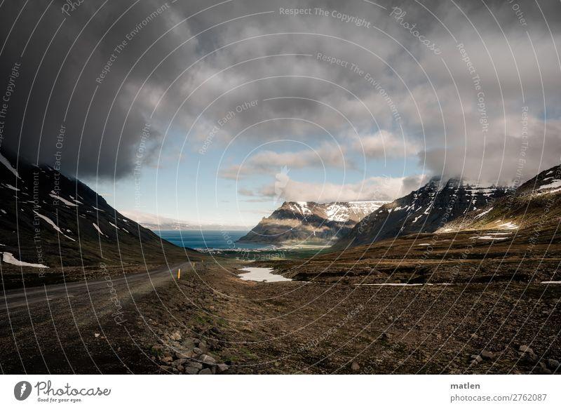 Latrarpass Natur Landschaft Urelemente Himmel Wolken Horizont Frühling Schönes Wetter schlechtes Wetter Wind Felsen Berge u. Gebirge Schneebedeckte Gipfel Küste