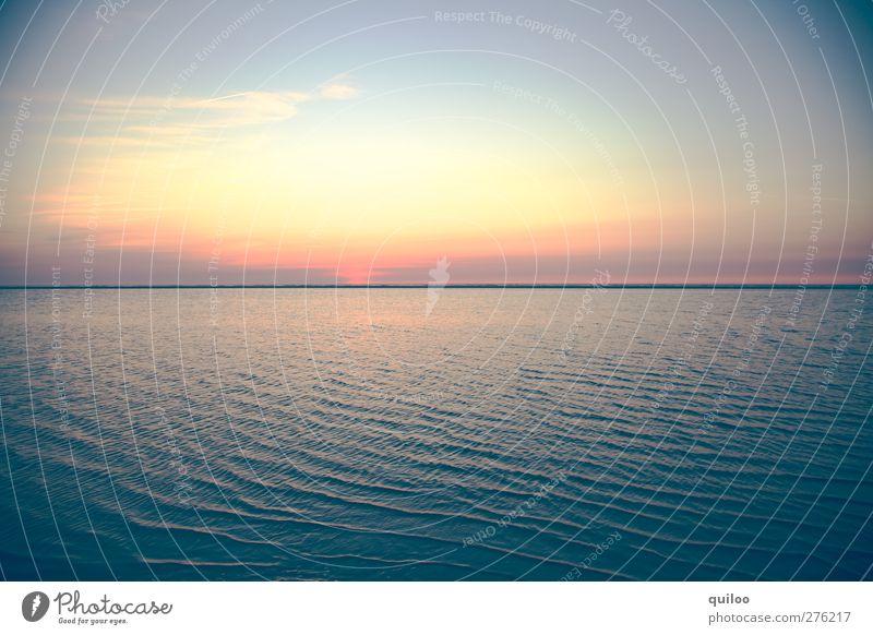 Wellen Ferien & Urlaub & Reisen Sommerurlaub Meer Luft Wasser Himmel Sonne Küste Nordsee Flüssigkeit Unendlichkeit nass blau gelb gold türkis Kraft