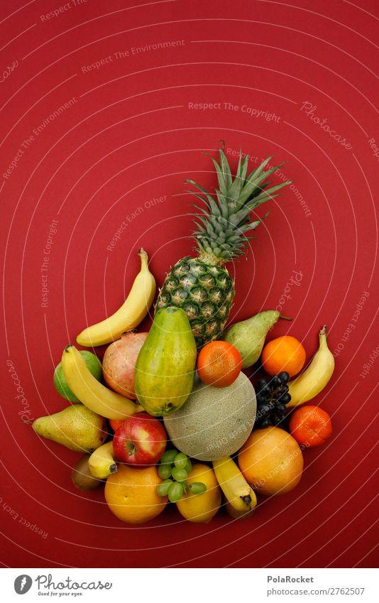 #A# VitaminCocktail Kunst ästhetisch Frucht Obstkorb Obstsalat Obst- oder Gemüsestand Obstschale Obstladen viele Ananas vitaminreich Vitamin C Banane Melonen