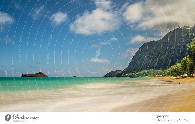 Fernweh/ Oahu Hawaii Himmel Ferien & Urlaub & Reisen Natur Sommer schön Wasser Landschaft Meer Erholung Wolken Einsamkeit Ferne Strand Umwelt Tourismus Freiheit