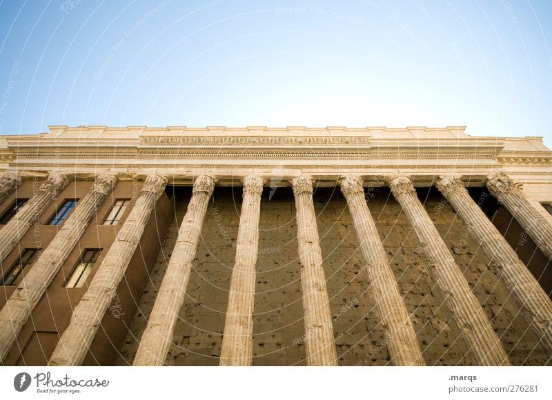 Antik Architektur Kultur Wolkenloser Himmel Rom Italien Ruine Bauwerk Gebäude alt Perspektive Ferien & Urlaub & Reisen Tourismus Antike Tempel historisch Säule
