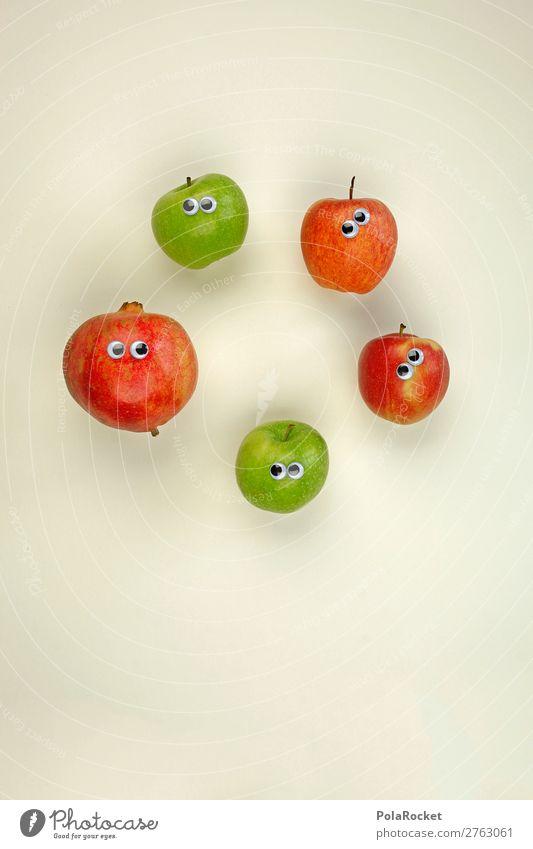 #AJ# Alle Anders. Eine Familie. Kunst ästhetisch Frucht Obstgarten Obstsalat Vegetarische Ernährung Apfel Apfelernte Granatapfel Auge fremd Fremdsprache