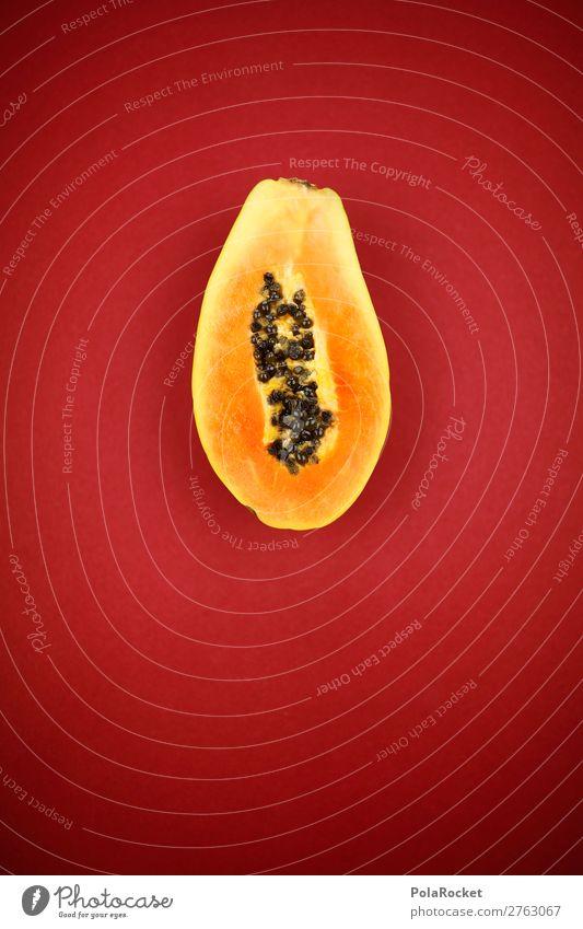 #A# Halbe Exotik Kunst ästhetisch exotisch Südfrüchte Vitamin vitaminreich lecker Vegetarische Ernährung Vegane Ernährung rot Frucht Gesunde Ernährung Farbfoto