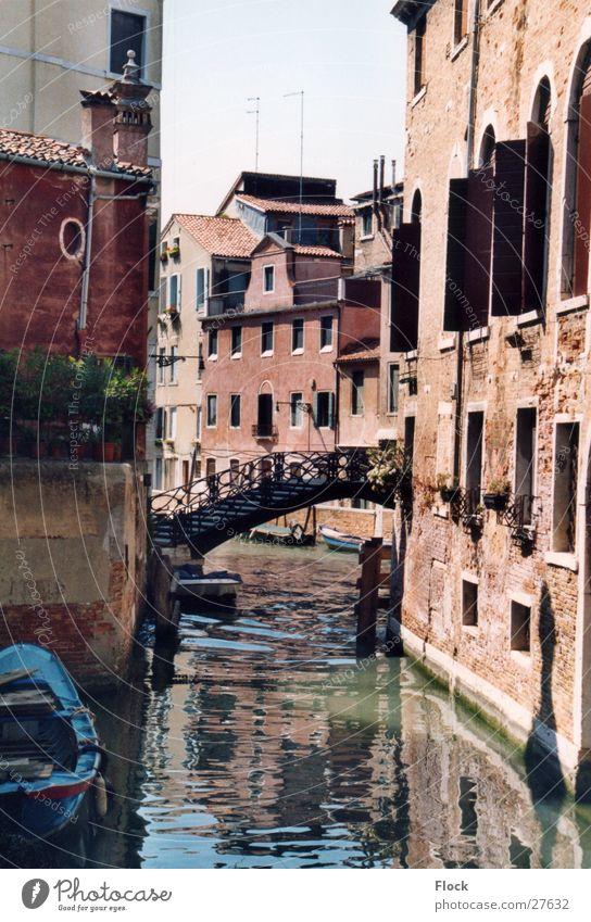 Einsame Brücke Haus Europa Venedig Gasse Abwasserkanal Italien