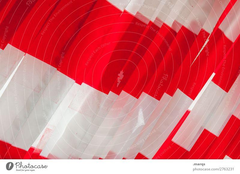 Absperrung Bauarbeiter Baustelle eckig einfach rot weiß Farbe Barriere Farbfoto Außenaufnahme Nahaufnahme Muster Menschenleer Textfreiraum links