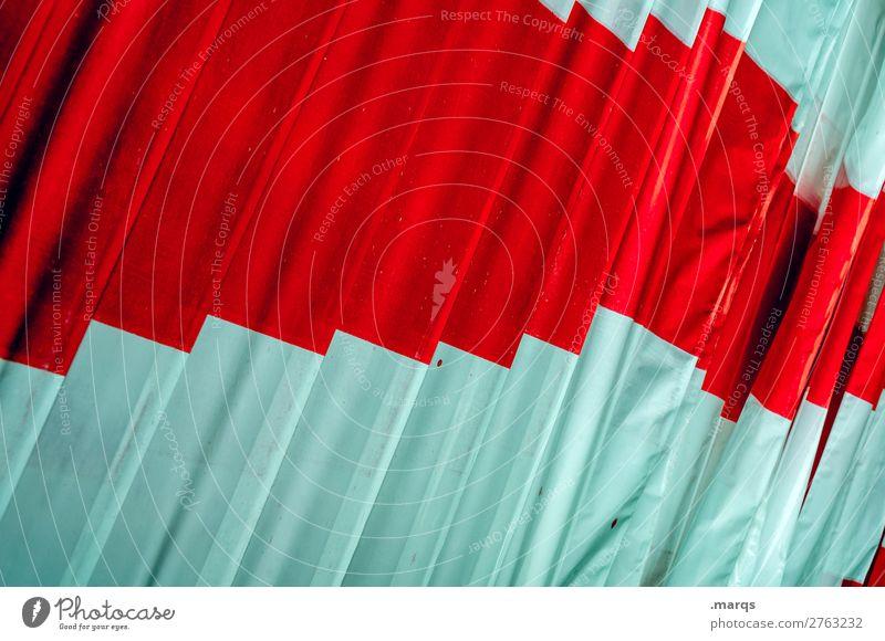 Absperrband Bauarbeiter Baustelle Barriere Kunststoff Schilder & Markierungen eckig rot weiß Farbe Farbfoto Außenaufnahme Nahaufnahme abstrakt Muster