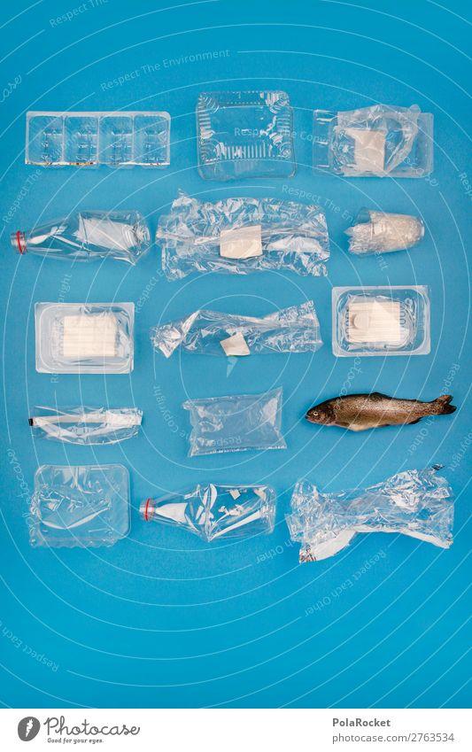 """#AJ# Sprach das Weltmeer: """"Finde den Fisch!"""" Kunst ästhetisch Fischereiwirtschaft Fischernetz Beute Statue Skulptur Kunststoff Plastikhülle Kunststoffmüll Müll"""