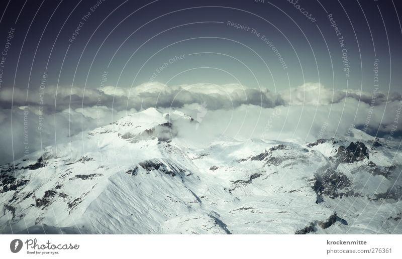 Blofelds Schlafzimmeraussicht Himmel Natur blau Wolken Winter Landschaft Berge u. Gebirge Schnee Felsen wandern Alpen Gipfel Aussicht Schweiz