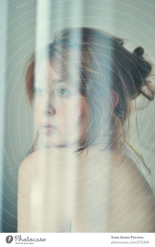 verspielt.verspiegelt.(III) feminin Junge Frau Jugendliche Körper Haut Kopf Haare & Frisuren Gesicht 1 Mensch 18-30 Jahre Erwachsene Piercing brünett langhaarig