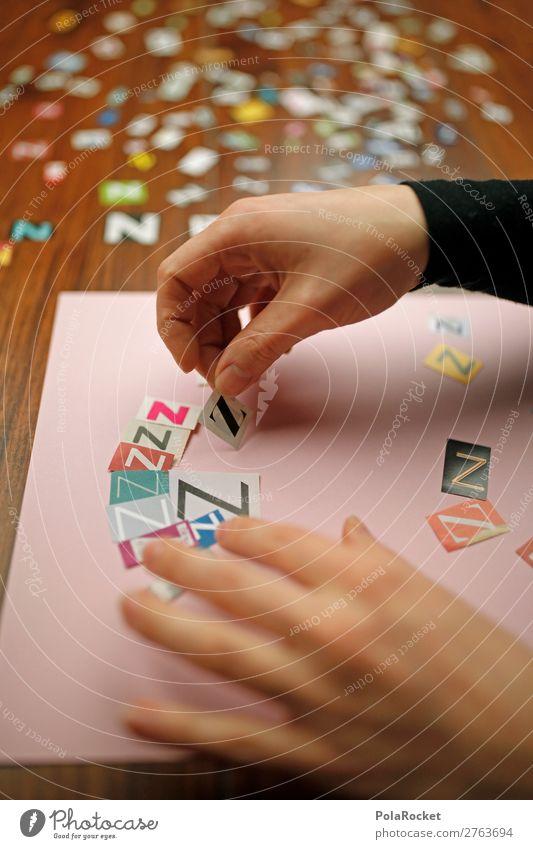 #AJ# basteln Kunst ästhetisch Basteln Buchstaben Kreativität Wort Wortspiel Farbfoto Gedeckte Farben Innenaufnahme Studioaufnahme Nahaufnahme Detailaufnahme