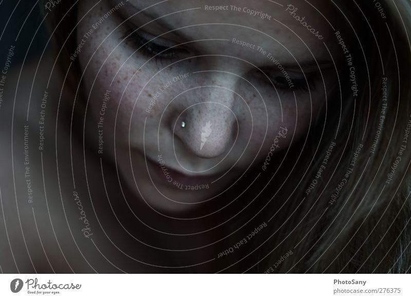 sensual 3.0 Mensch Frau Erwachsene Gesicht Auge feminin Gefühle Kopf Denken Stimmung Haut Nase Lippen