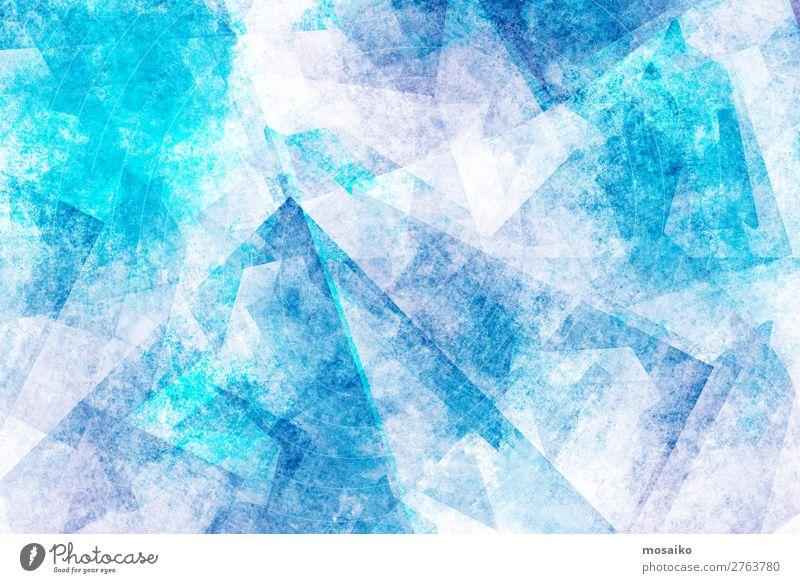 graphische Muster - Farbspiel blau weiß Erholung Lifestyle Leben Stil Kunst Textfreiraum Party Design elegant ästhetisch fantastisch Energie Idee malen