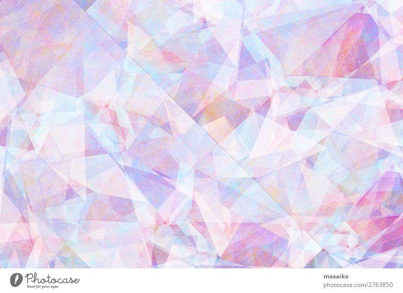 graphische Muster - Farbspiel elegant Stil Design ästhetisch fantastisch hell blau rosa weiß Idee Kreativität Kultur Kunst Lebensfreude Leichtigkeit Optimismus