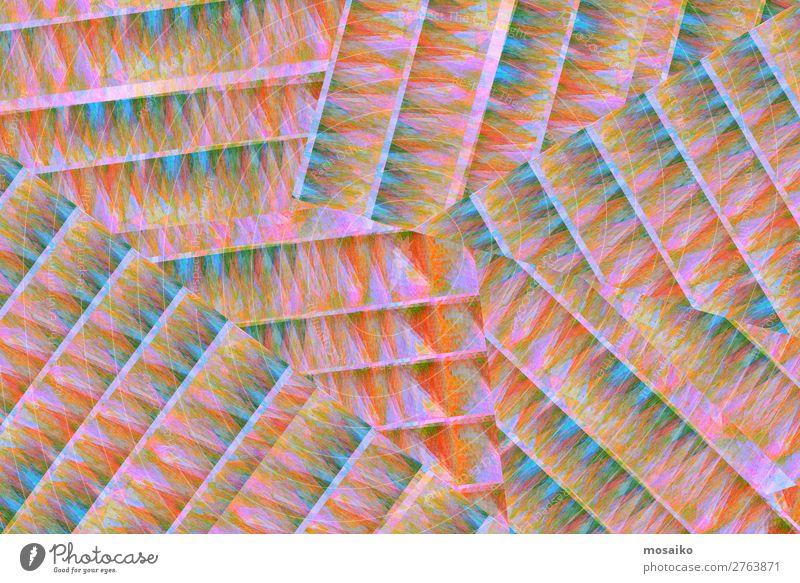 farbenfrohe Papierstruktur - Grafikdesign Lifestyle elegant Stil Design exotisch Freude schön Leben Feste & Feiern Kunst Kunstwerk Mode Bekleidung geheimnisvoll