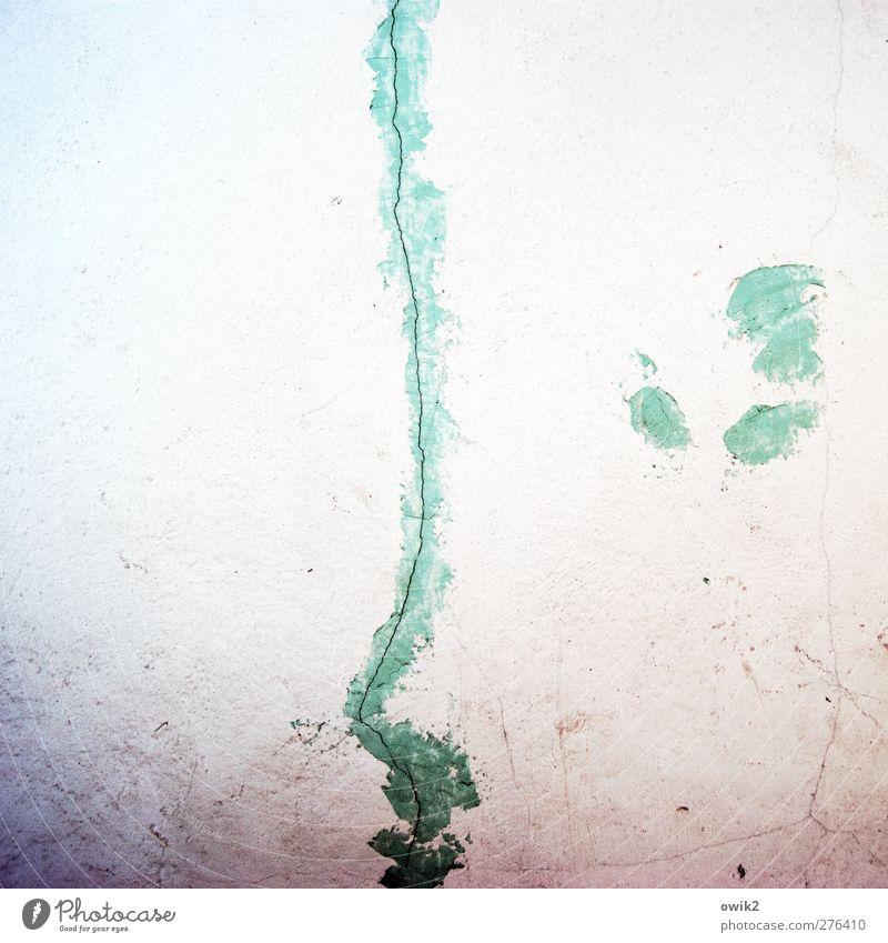 Silhouette weiß Farbe Gesicht Auge Wand Mauer Kunst Mund Nase authentisch einfach violett lang dünn türkis Riss