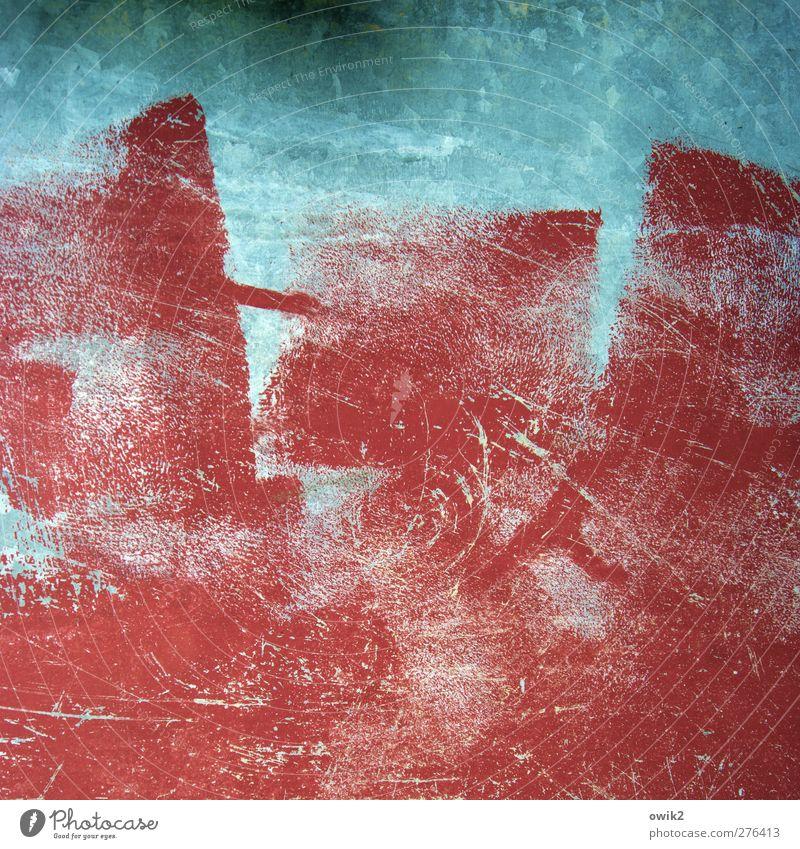 Örnste Konst Kunst Gemälde Metall blau rot Farbenspiel Kunstwerk Farbfoto mehrfarbig abstrakt Muster Strukturen & Formen Menschenleer Textfreiraum links