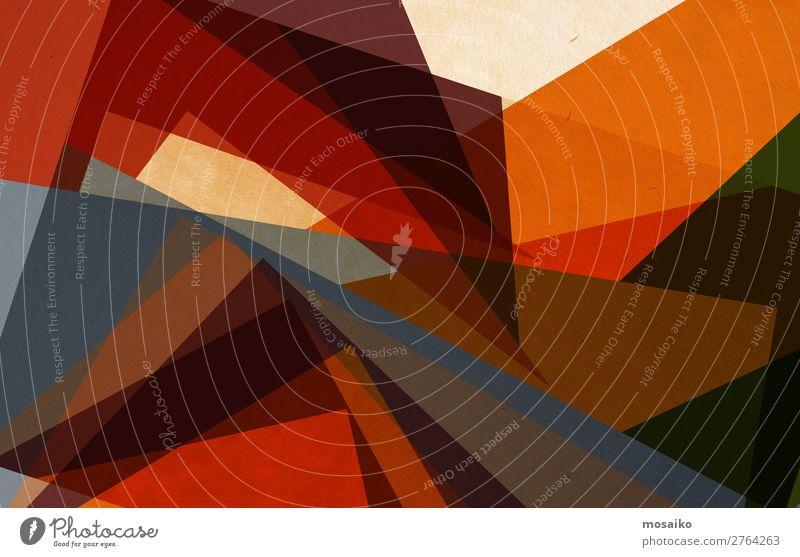 geometrische Formen - orange und braun elegant Stil Design exotisch Freude schön Leben harmonisch Wohlgefühl Freizeit & Hobby Dekoration & Verzierung Tapete