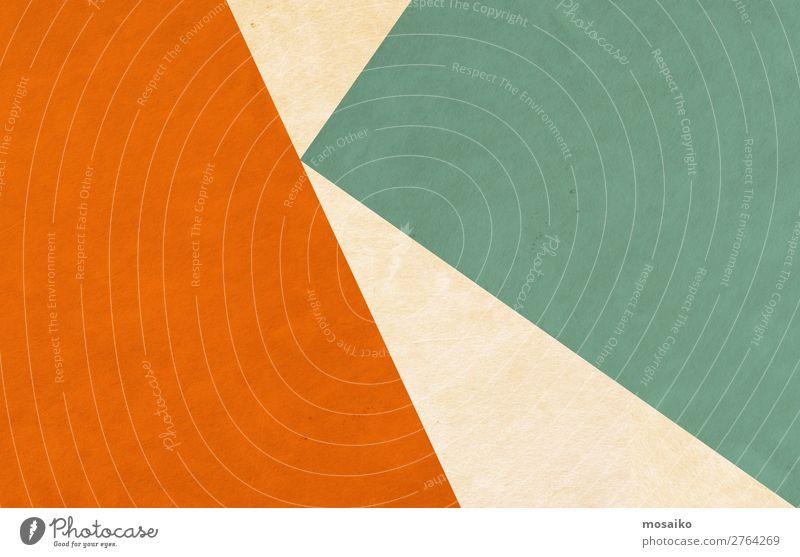 Grafische Formen - orange und grün Lifestyle elegant Stil Design Freizeit & Hobby Kultur Veranstaltung retro Lebensfreude Vertrauen Ordnungsliebe Glaube