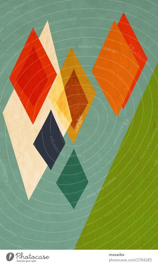 Farbenfrohe Grafische Formen Lifestyle elegant Stil Design Freude Glück Leben Zufriedenheit ruhig Freizeit & Hobby Basteln Entertainment Feste & Feiern