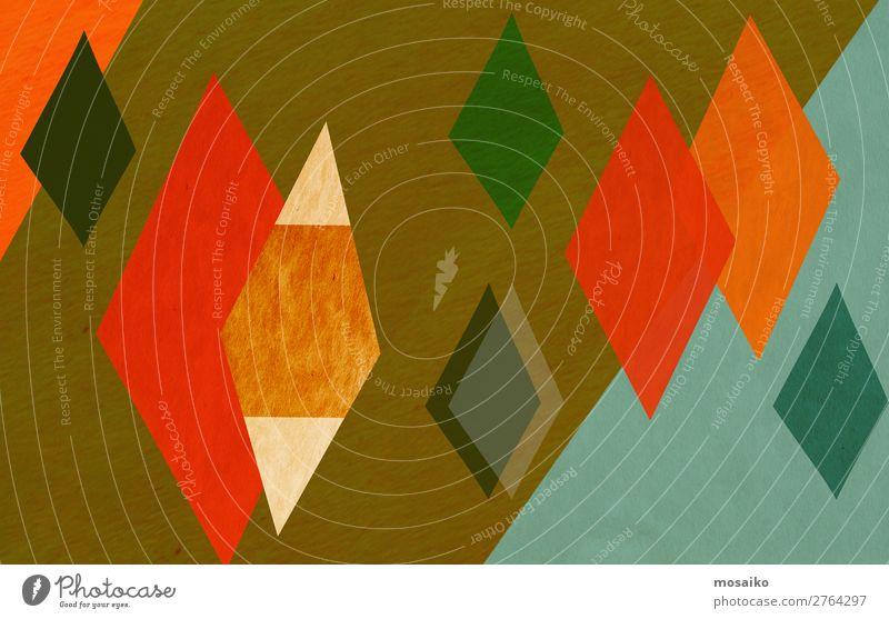 farbenfrohe geometrische Formen - Papierstruktur - Grafikdesign Lifestyle Stil Design exotisch Freude Dekoration & Verzierung Tapete Feste & Feiern retro