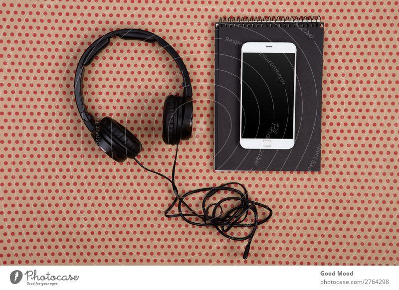 Farbe rot schwarz natürlich Stil Business Büro Design modern Aussicht Musik Technik & Technologie kaufen Papier Kreis Telefon